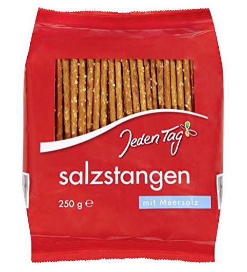 5x Jeden Tag Salzbrezeln (je 250g) für 1,96€ oder 5x Salzstangen für 1,56€   Prime