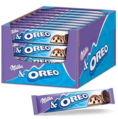 36x Milka Schokoriegel mit Oreo Keksstückchen für 13,49€ (statt 19€)   Prime Sparabo