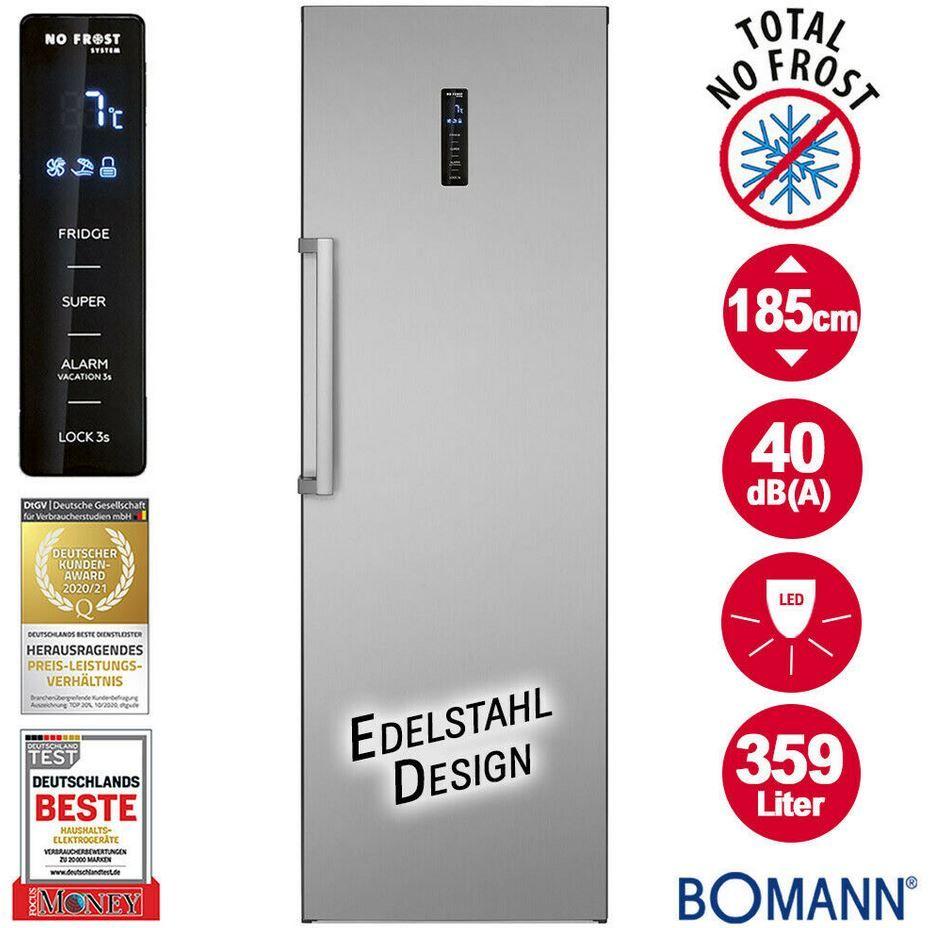 Bomann VS 7329   No Frost 359l Kühlschrank Inox für 389€ (statt 560€)