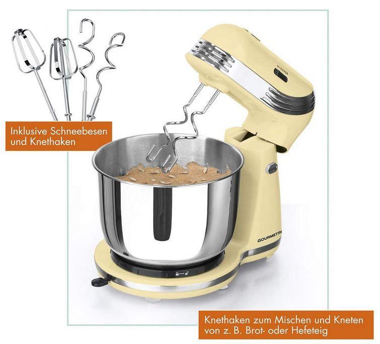GOURMETmaxx Retro Küchenmaschine 250W für 39,90€ (statt 49€)
