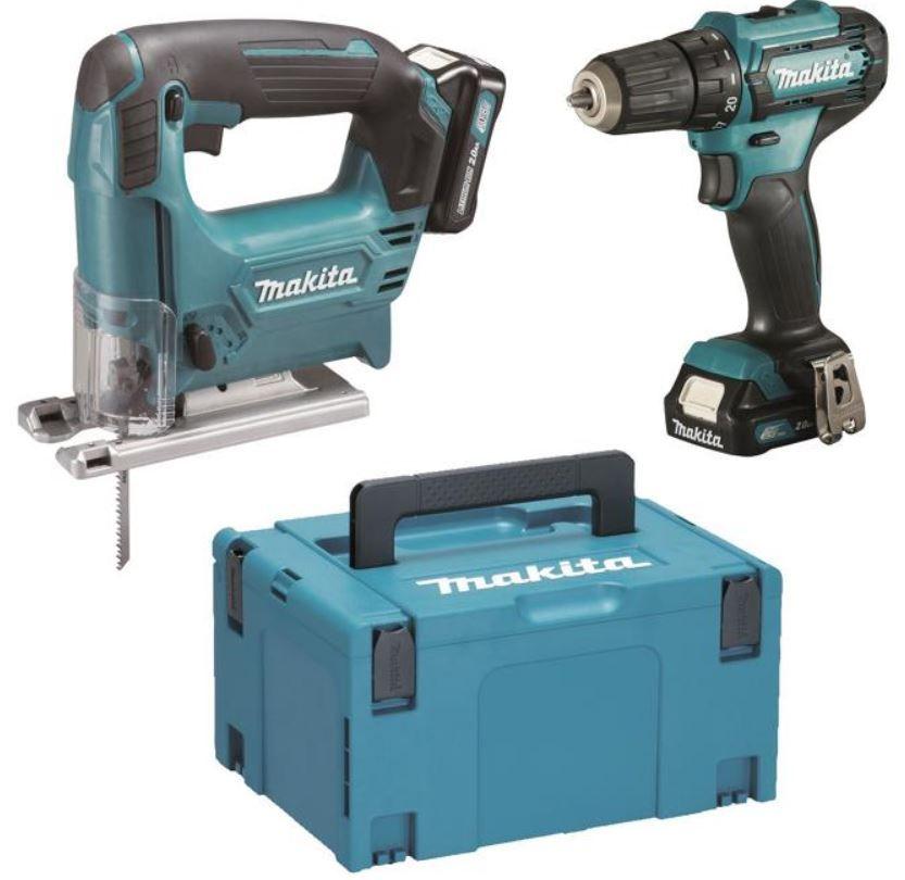 Makita Akku Werkzeug Set mit Bohrschrauber und Stichsäge für 199,99€ (statt 282€)