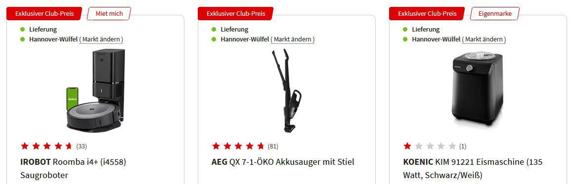 MediaMarkt Members Only Aktion   z.B. KOENIC KIM 91221 Eismaschine für 139€ (statt 179€)
