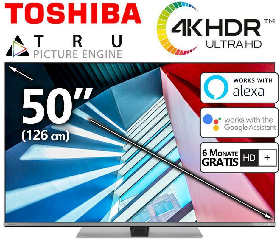 Toshiba 50UK6B63DG   50Zoll UHD smart TV mit HDR für 349,99€ (statt 449€)