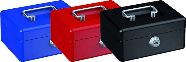 BASI Geldkassette GK 10 mit herausnehmbarerm Hartgeldeinsatz in drei Farben für 10,83€ (statt 21€)