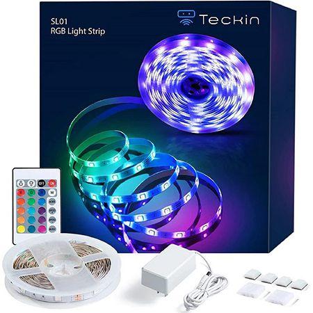 Teckinlife LED Lichtleiste mit Fernbedienung und Steuerbox für 5,99€ (statt 9€)
