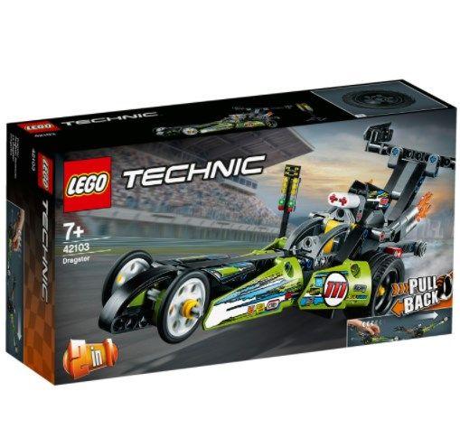 Lego Technic – 2 in 1 Dragster Rennauto (42103) für 14,44€ (statt 19€) – Thalia Club