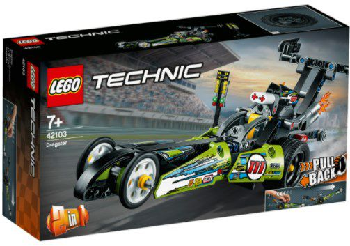 Lego Technic   2 in 1 Dragster Rennauto (42103) für 14,44€ (statt 19€)   Thalia Club