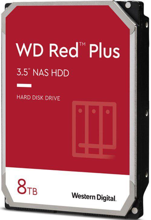 WD Red Plus Festplatte (WD80EFBX) 8TB mit 7200rpm für 188,50€ (statt 204€)