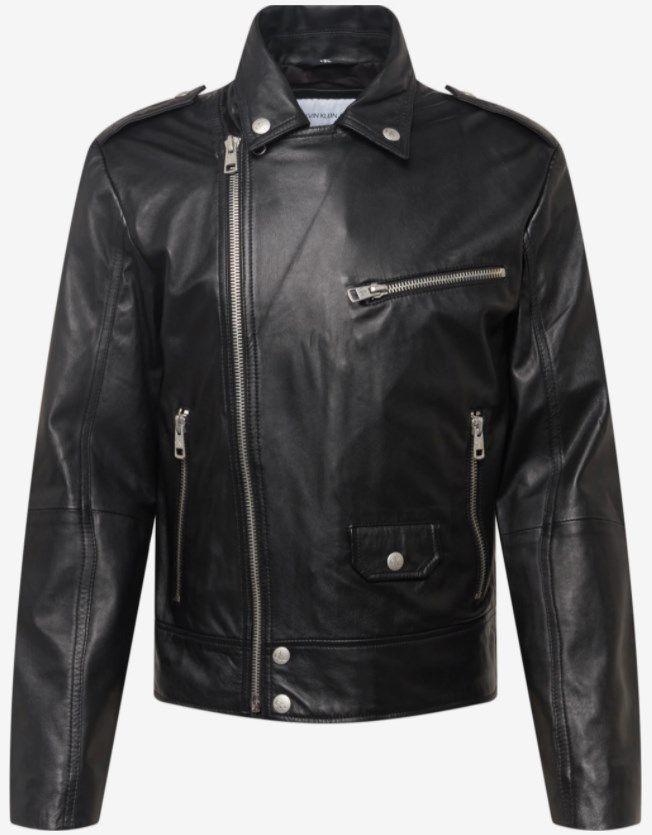 Calvin Klein Lederjacke in Schwarz für 319,51€ (statt 399€)