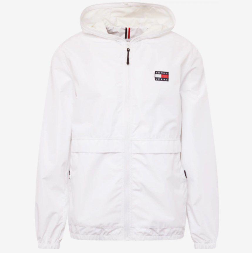 Tommy Jeans Übergangsjacke in Weiß für 109,65€ (statt 130€) – in L