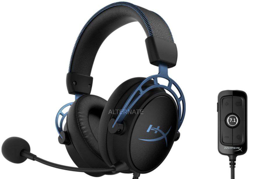 HyperX Cloud Alpha S Gaming Headset in Schwarz Blau für 84,99€ (statt 95€)