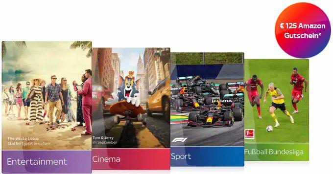 12 Monate Sky Komplettpaket mit HD für 40€mtl. + 125€ Amazon Gutschein