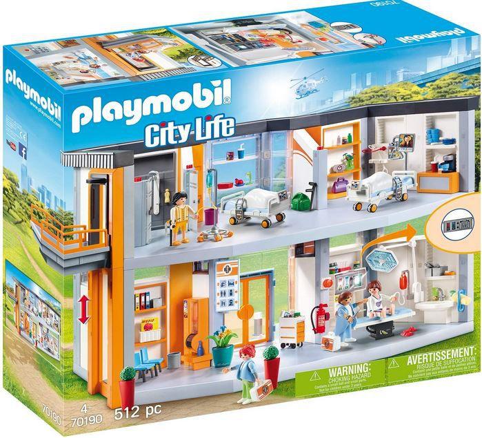 PLAYMOBIL City Life 70190 großes Krankenhaus mit 512 Teilen für 79€ (statt 101€)