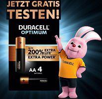 Duracell Optimum Batterien kostenlos ausprobieren
