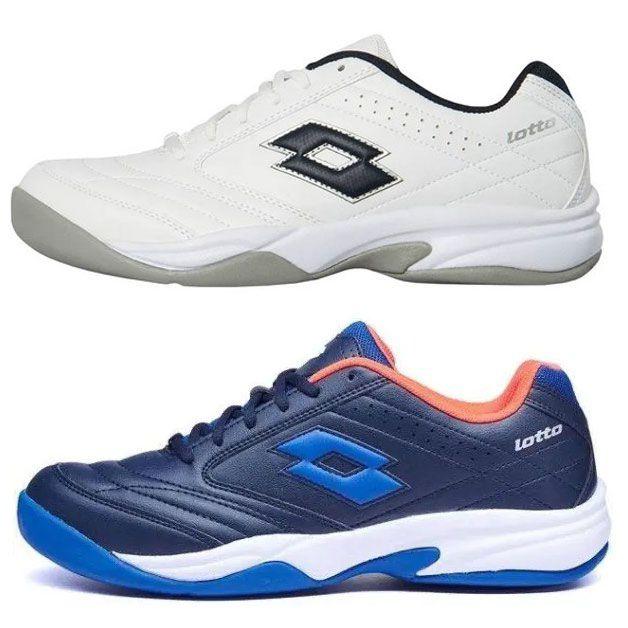 """Lotto unisex Tennischhuhe """"COURT LOGO VIII SI"""" in Blau oder Weiß für je 24,68€ (statt 40€)"""