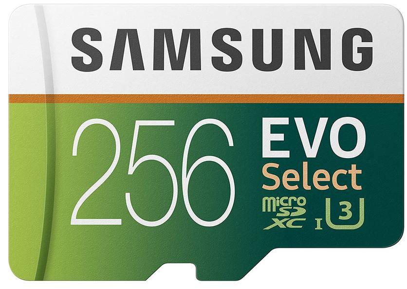 Samsung EVO Select 256GB microSD 100MB/s für 25,39€ (statt 35€)