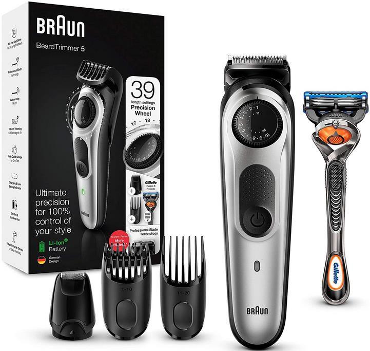 Braun BT5265 Barttrimmer und Haarschneider mit 39 Längeneinstellungen für 36,49€ (statt 57€)
