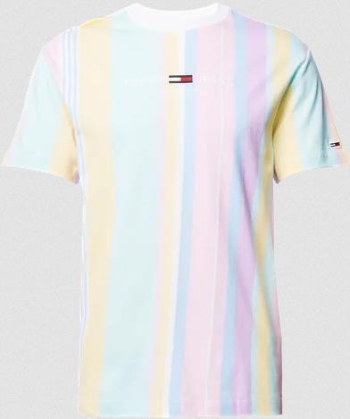 Tommy Jeans T Shirt aus reiner Bio Baumwolle mit Streifenmuster für 19,99€ (statt 30€)