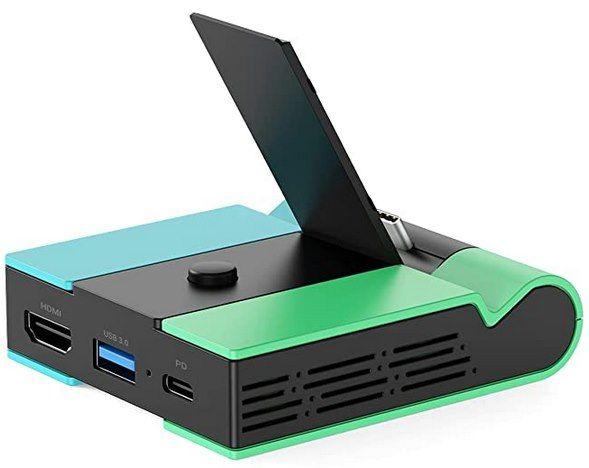 Knofarm Switch Docking Station mit USB 3.0, HDMI & USB C für 9,99€ (statt 26€)