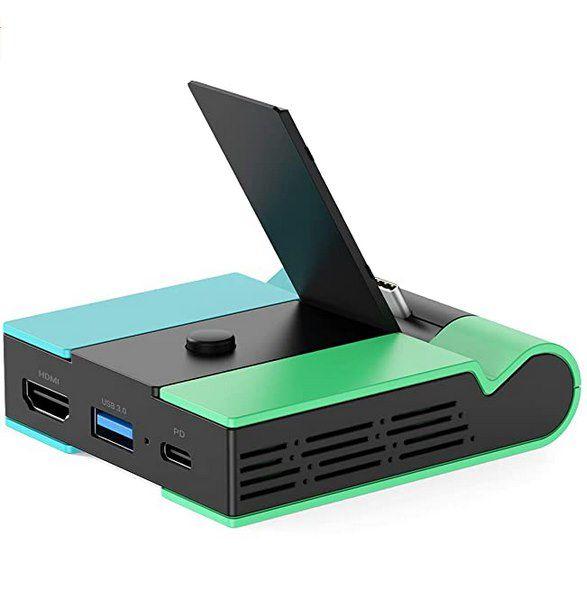 Knofarm Switch Docking Station mit USB 3.0, HDMI & USB-C für 9,99€ (statt 26€)