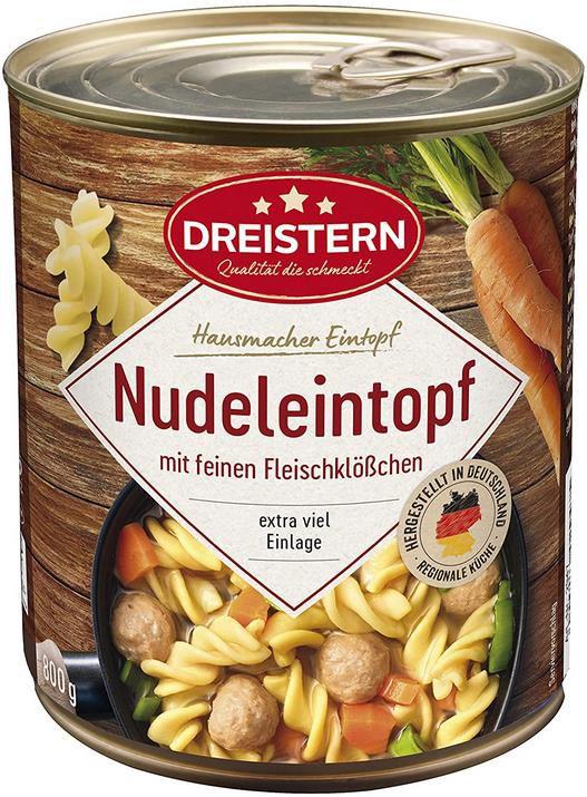 5x Dreistern Nudeleintopf mit Fleischklößchen 800 g für 10,09€ (statt 13€)