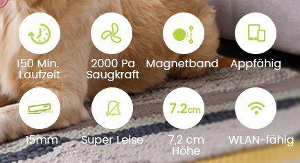 Kyvol E20 Saugroboter mit 2.000Pa Alexa & App Steuerung für 89,99€ (statt 150€)