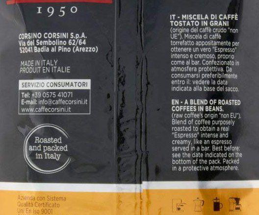 Caffè Corsini Espresso intensiv und cremig Kaffeebohnen (1000g) ab 9,77€ (statt 15€)   Sparabo