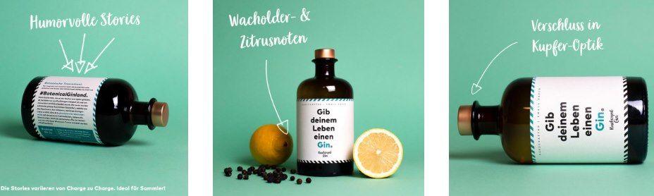 Flaschenpost Gin (0,5l)   Handmade Deutscher Premium Gin mit frischen Zitrus  und Wacholdernoten für 23,19€ (statt 30€)
