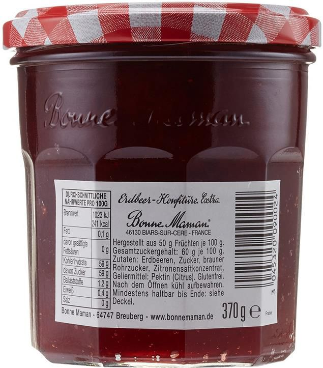 5x Bonne Maman Erdbeer Konfitüre im 370 g Glas für 10,46€ (statt 14€)   Sparabo