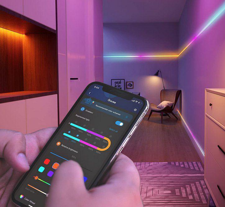 Govee RGBIC 5m LED Strip mit App Steuerung für 29,59€ (statt 37€)