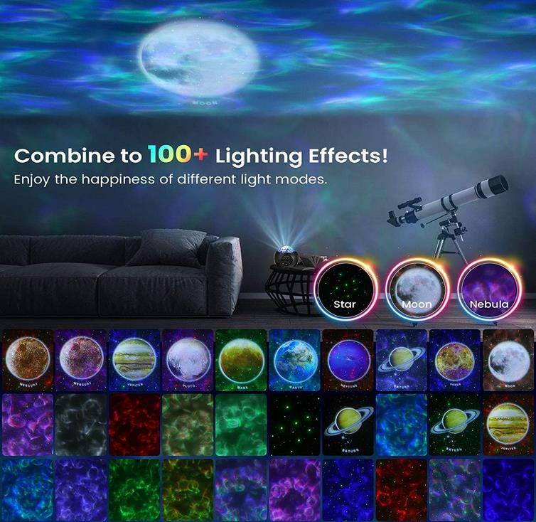 Solmore LED Sternenhimmel Projektor mit 10 Planetenprojektionen für 17,99€ (statt 30€)