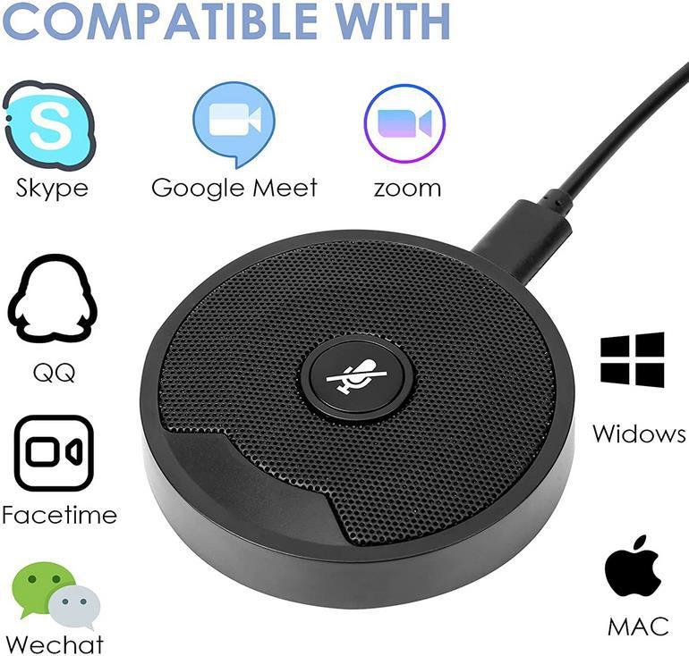 Swanew 360 ° Tischmikrofon mit Stummschalttaste für 19,49€ (statt 30€)