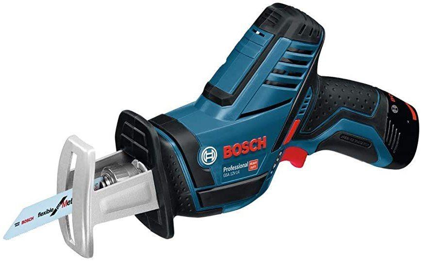 Bosch Professional 12V System Akku Säbelsäge GSA 12V 14 mit 2 Sägeblätter, 2x 3.0Ah Akkus & Ladegerät in L BOXX für 124,99€ (statt 167€)