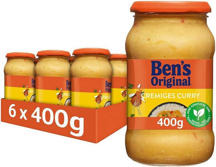 6x Bens Original Sauce Cremiges Curry   (6 x 400g) für 6,56€ (statt 11€)   Sparabo
