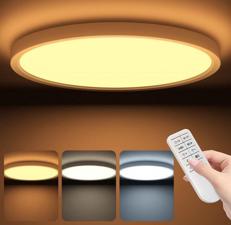 Tailiqi – LED Deckenleuchte – Flach und Dimmbar mit Fernbedienung für 22,79€ (statt 38€)