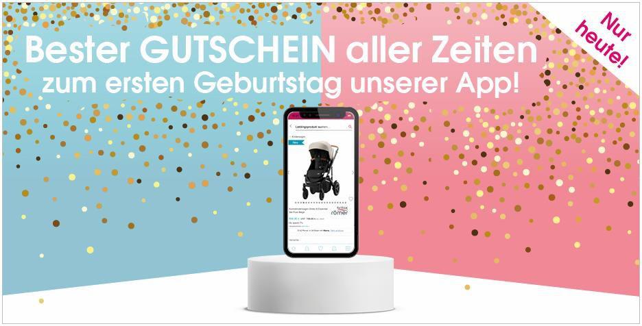 Babymarkt Jubiläumsgutscheine: 10% im Online Shop und 12% per App   nur heute!