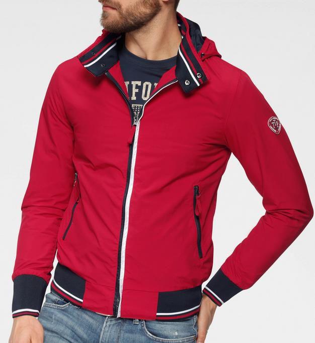 Tom Tailor   Polo Team Jacke in Rot für 49,99€ (statt 119€)