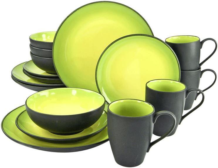 CreaTable Kombiservice Hot Green 16 teilig für 89€ (statt 97€)