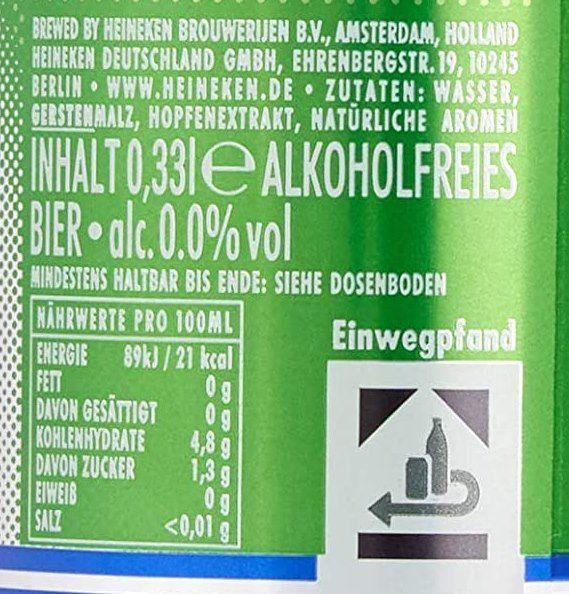 24x Heineken 0.0% Alkoholfrei Pils (je 0.33 l) für 16,99€ + Pfand (statt 24€)   Prime