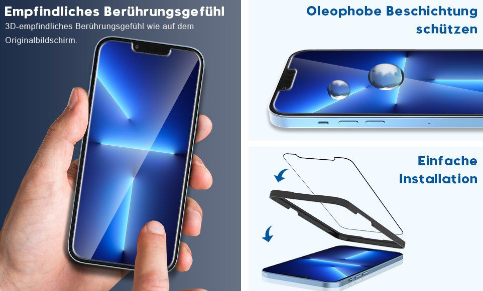 3x TOCOL Panzerglas & Kameraschutz für iPhone 13 Pro Max für 4,49€ (statt 8,99€) – Prime