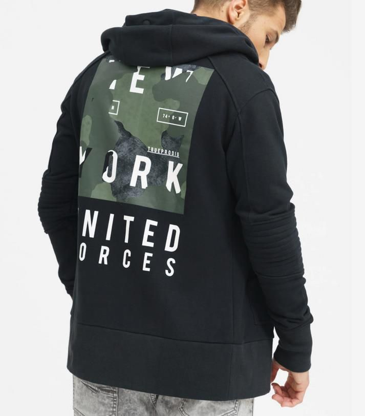 Trueprodigy Sweatjacke United Forces für 44,99€ (statt 57€)