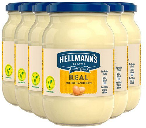 6x Hellmanns Mayonnaise Real (je 210ml) für 6,99€ (statt 10€)   Prime
