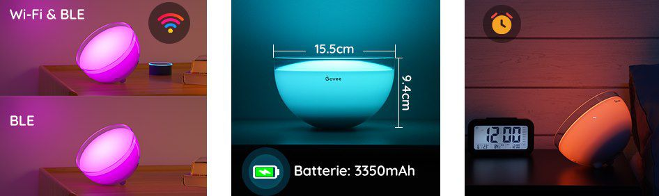 Govee LED RGBWW WLAN Tischleuchte mit App Steuerung für 39,99€ (statt 50€)