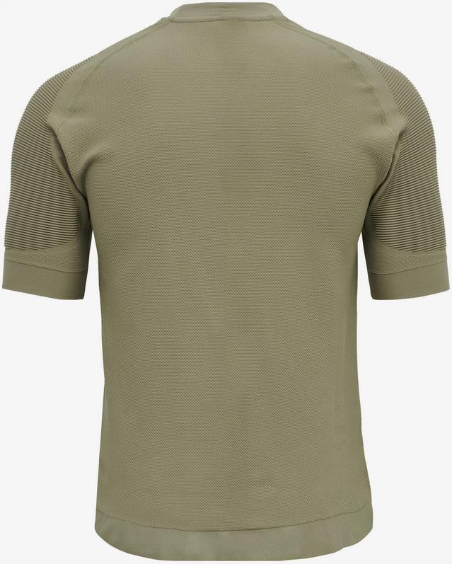 Hummel T Shirt Cube in khaki / weiß für 9,76€ (statt 15€)