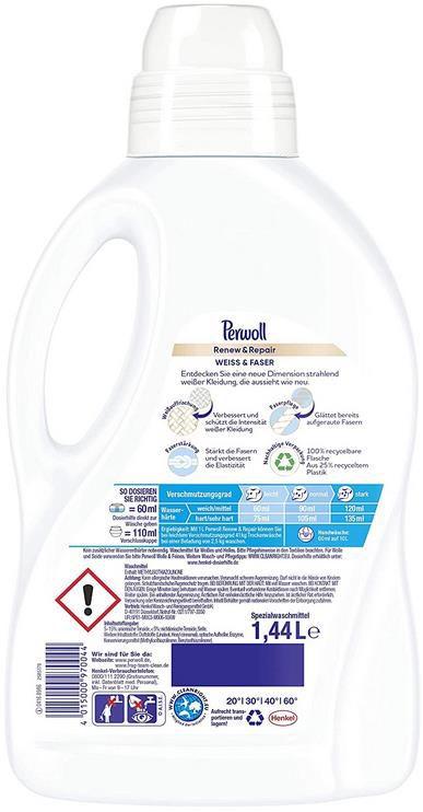 4x Perwoll Renew und Repair   Weiß und Faser Feinwaschmittel (24 Waschladungen) für 9,75€ (statt 15€)   Sparabo
