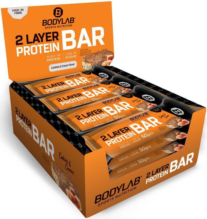 Bodylab24   Tasty Protein Bar 12x50g in zwei Geschmacksrichtungen für 18,90€ (statt 27€)