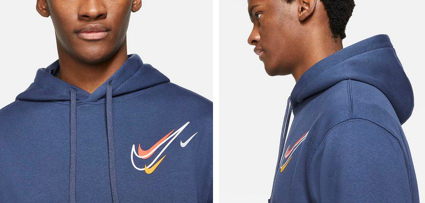 Nike Zigzag Fleece Hoodie in 4 Farben für je 43,97€ (statt 59€)
