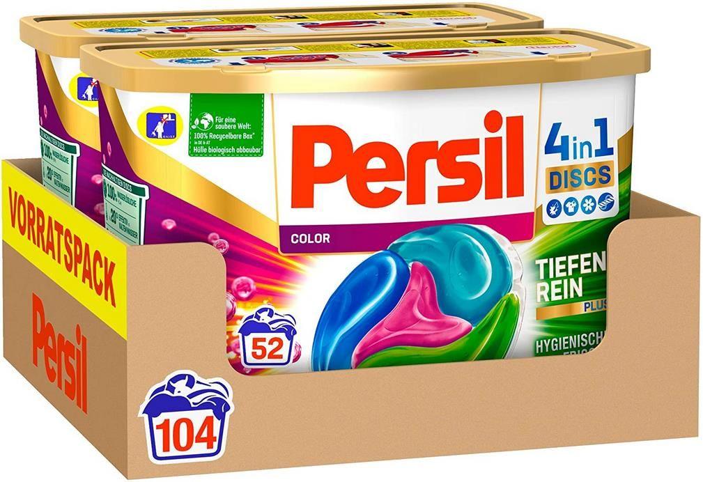 2x Persil Color 4in1 Discs (104 Waschladungen)   Colorwaschmittel für 17,99€ (statt 31€)   Sparabo