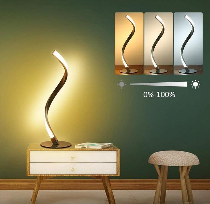 Tomshine LED Nachttischlampe   Dimmbar und mit Berührungsschalter für 29,99€ (statt 40€)