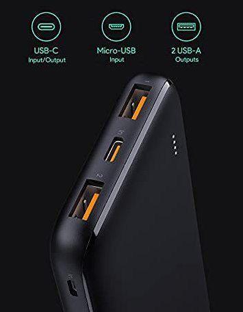 Aukey USB C Powerbank mit 10.000mAh & 18W Power Delivery 3.0 für 14,99€ (statt 30€)   Prime